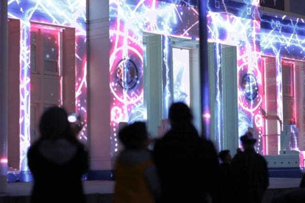 Projection Mapping Borealis a Festival of Light